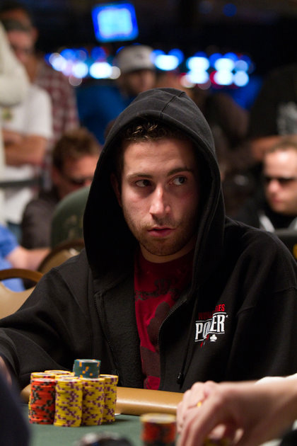 Jonathan Duhamel at the WSOP 2010 - With the hoodie on