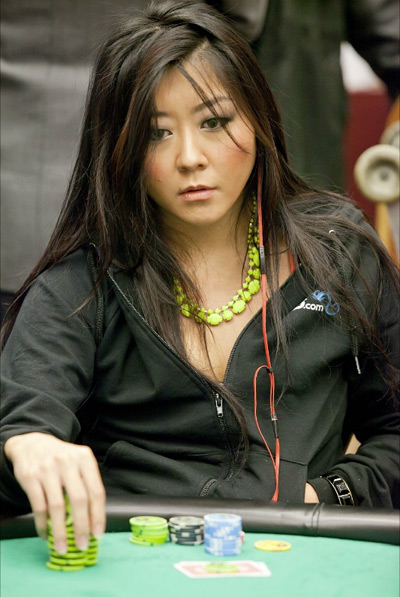 Maria Ho at the 10 K NLH Shooting Star Poker Tournament