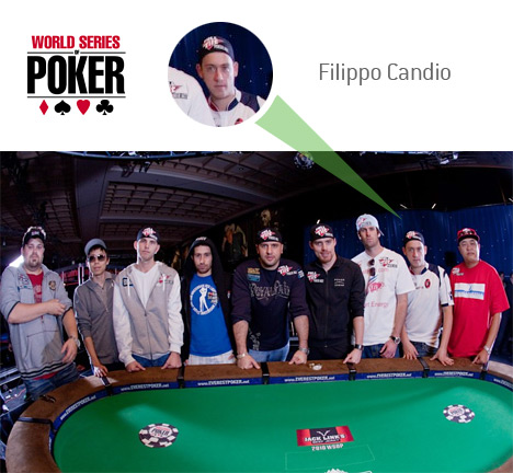 Filippo Candio of the November 9 - WSOP 2010 - World Series of Poker