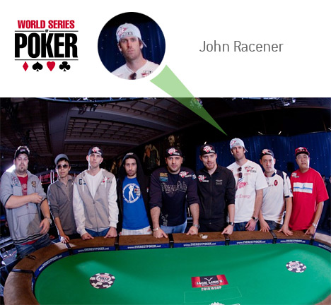 John Racener as one of the November 9 at the 2010 World Series of Poker