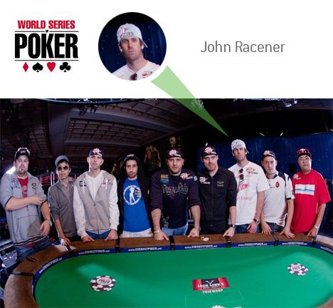 John Racener as one of the November 9 at the 2010 World Series of Poker