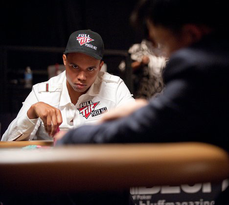 Mean look across the table - Phil Ivey at the WSOP 2010