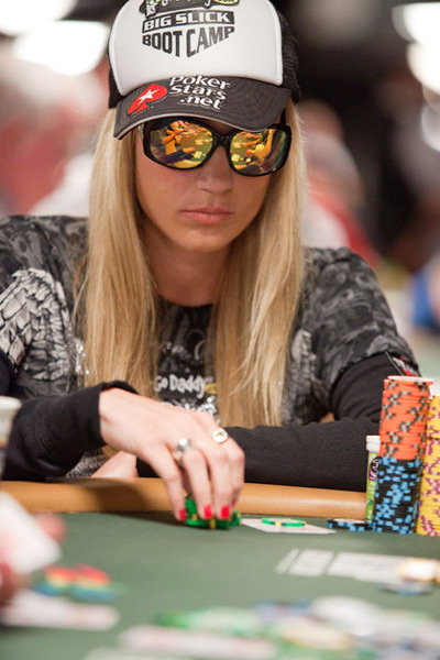 Vanessa Rousso, rocking a Pokerstars.net hat at the World Series of Poker 2010 - WSOP
