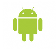 Google Android operating system logo.
