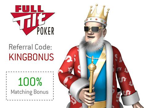 FullTiltPoker.co.uk Referral Code Bonus - King Presents