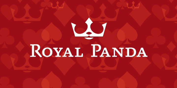 The famous Royal Panda logo on the official RP background.