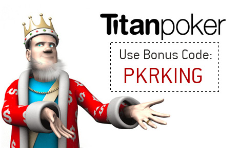 The King is explaining the details of the Titan Poker bonus offer