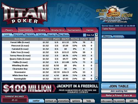 TitanPoker Torneos Poker Online